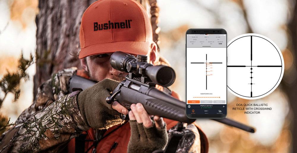 PHOTO-3: Réticule balistique rapide DOA pour les lunettes Bushnell Banner 2 et l'application Bushnell Ballistics.